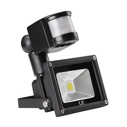 awesome LE® 10W Motion Sensor Light, LED Flood Lights, 100W Halogen Lights Equivalent, Daylight White, Waterproof LED Security Light, High Output 700lm, PIR Floodlight