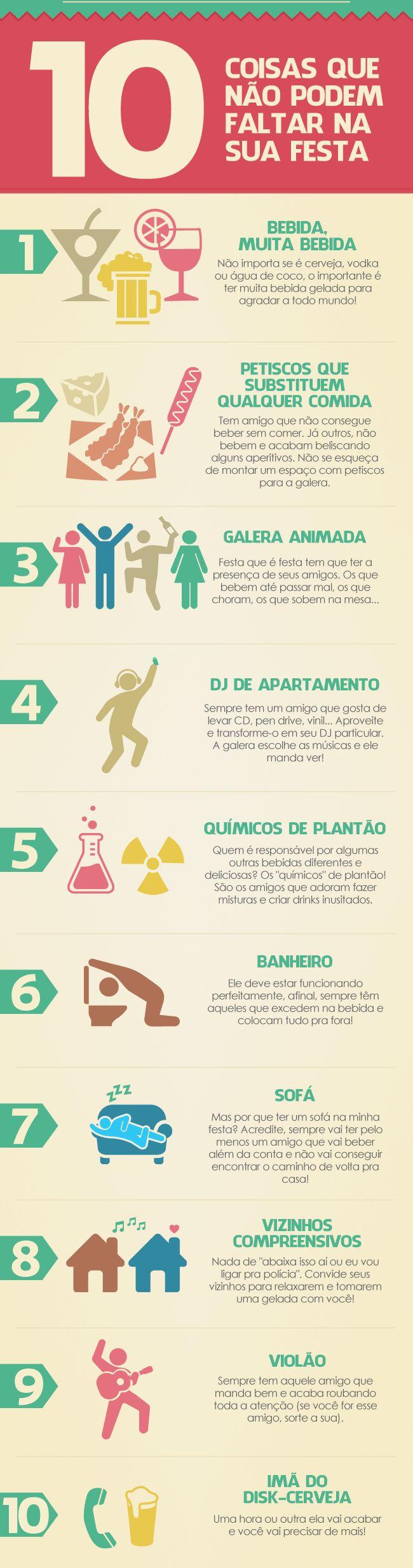 10 coisas que não podem faltar na sua festa! www.festabox.com.br