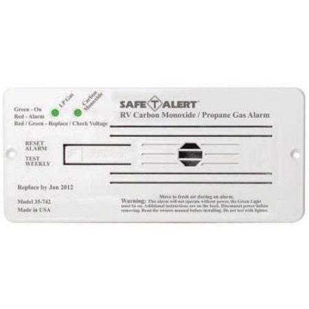 MTI Industries 12V 35 Series Safe-T-Alert Flush Mount RV Dual Carbon Monoxide/Propane Alarm, White