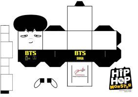 BTS Hip Hop Monster Suga Papercraft by ill-dope-swag