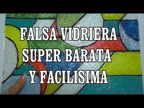 DIY FALSA VIDRIERA DE SILICONA Y ESMALTE - FALSE VITRAL - YouTube