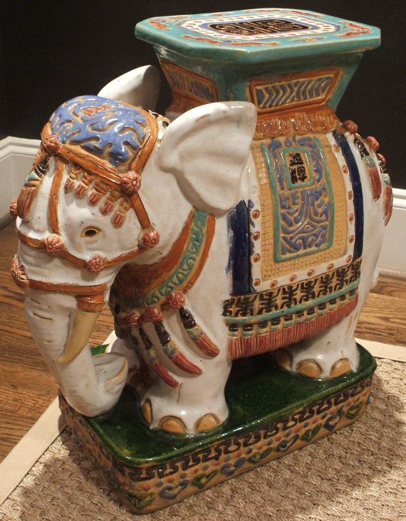 Perfect Use Elephant Garden Stool For And End Table