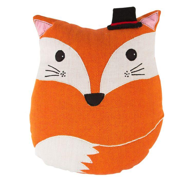 Alfie Fox Cushion, Kids Room, Fox Pillow, Kids Cushion Decor