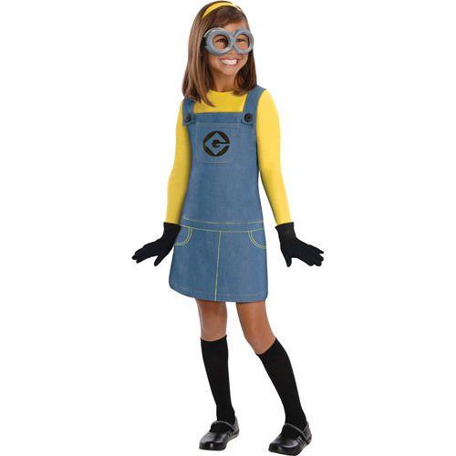 "Childs Girls Despicable Me ""Female Minion"" Costume Medium"