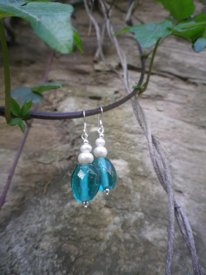 Handmade Freshwater Pearls/Czech Glass Earrings  http://www.facebook.com/ZadiaDesigns