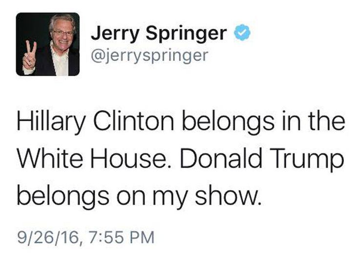 Funniest Presidential Debate Memes: Jerry Springer on the Debate