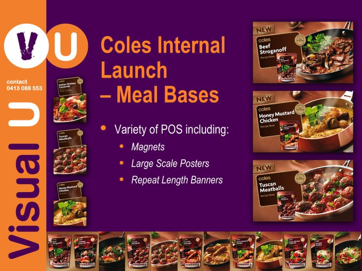 Visual U Coles Internal Launch - Meal Bases