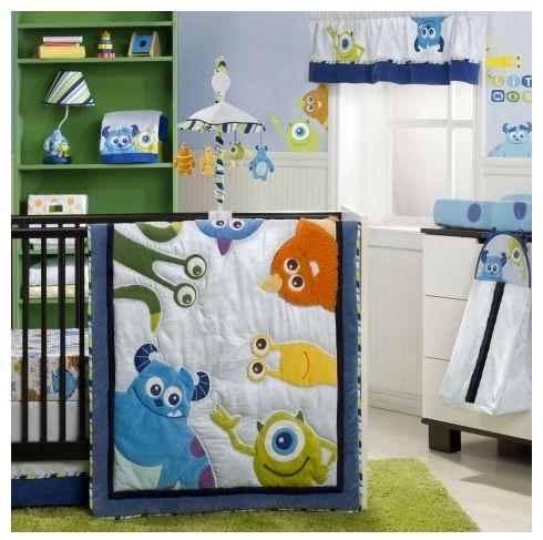 Disney Baby Monsters In 4 Piece Premier Crib Bedding Set