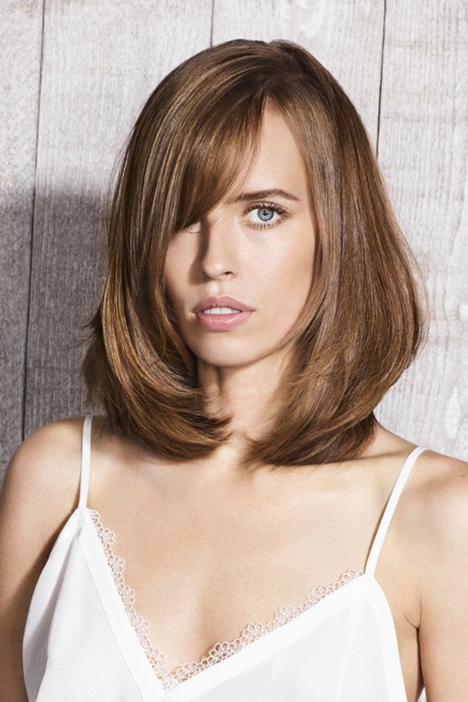 235 best images about Cheveux mi-longs on Pinterest   Canon, Coiffures and Coupe