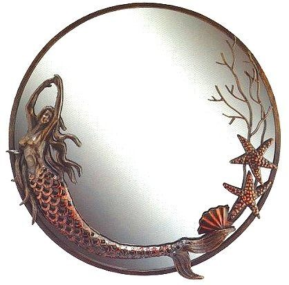 Reflect the warm glow of your cozy seaside retreat, in a uniquely coastal wall mirror.   Mermaid Dance Wall Mirror. Price:120