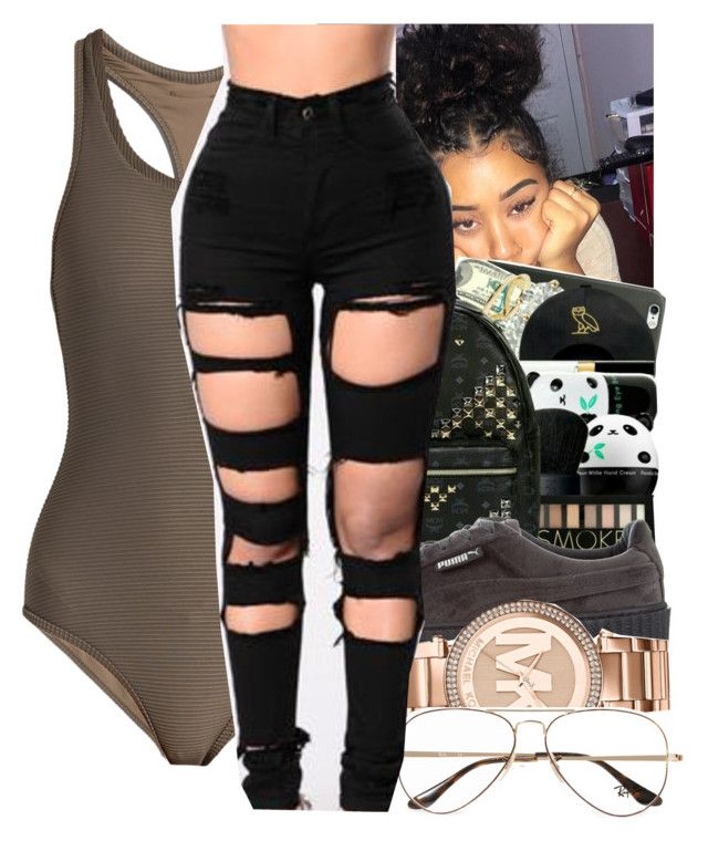 """"""""""" by phreshcheriish ❤ liked on Polyvore featuring Heidi Klein, Puma, Michael Kors and Ray-Ban"""