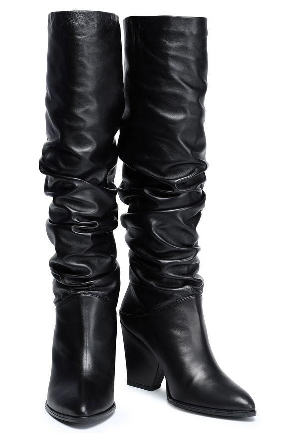 7d7ac1ea8c6 STUART WEITZMAN Smashing gathered leather boots | Fashion | Boots ...