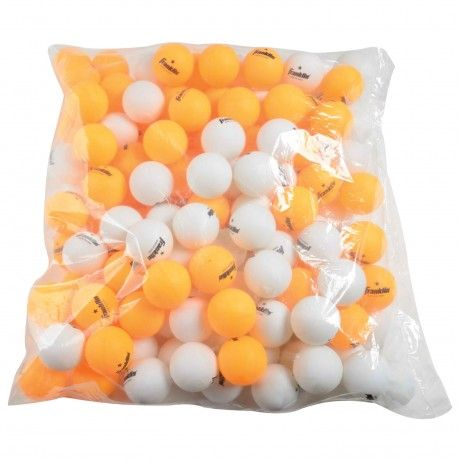 40MM 1 Star White/Orange Table Tennis Balls (PK 144) - These official table tennis balls provide tournament quality performance as well as increased control and consistent bounce for precision play. See more at: http://franklinsports.com/shop/40mm-1-star-white-orange-table-tennis-balls-pk-144