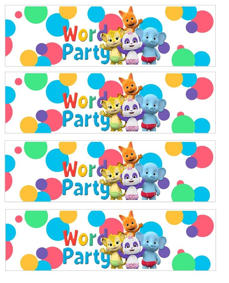 Displaying Word Party Waterbottlelabel Jpg With Images 1st