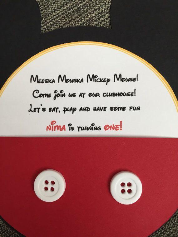 Mickey Mouse Club House Birthday Invitation by WinnJDesigns