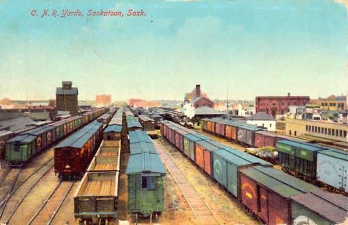 C.N.R. Train Yards, Saskatoon, Saskatchewan