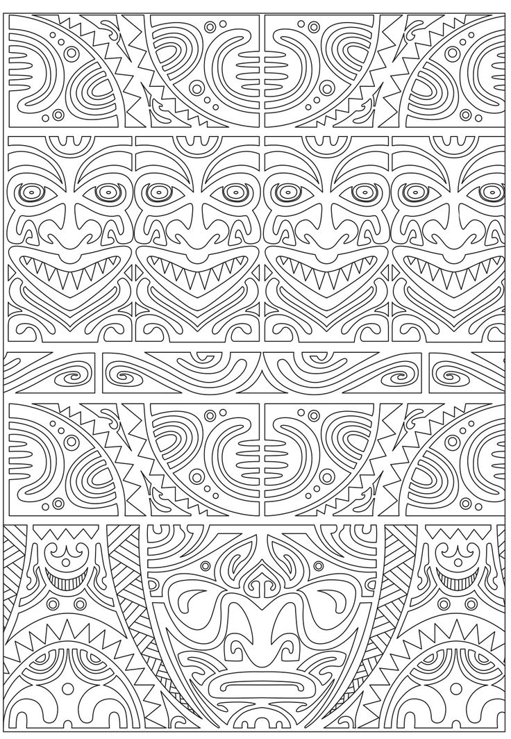 Inca Inspired Coloring Page