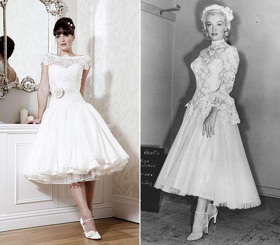 A Szőkék előnyben című filmben Marilyn Monroe csipkés felsőrészű menyasszonyi ruhája az ötvenes években divatos, hercegnős stílushoz igazodott. Manapság reneszánszát éli ez a trend, így több tervező is előállt hasonló esküvői kreációval.