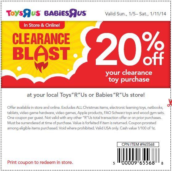 Toys r us coupons printable 2019