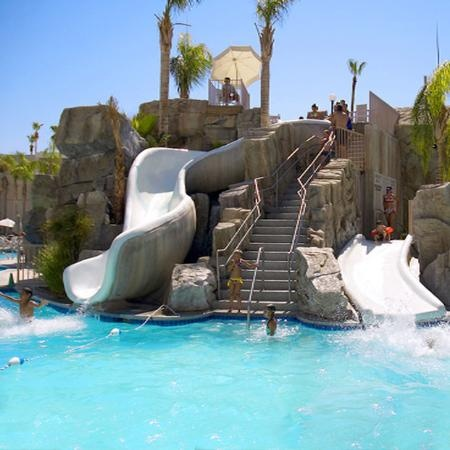 palm canyon resort spa pool slide