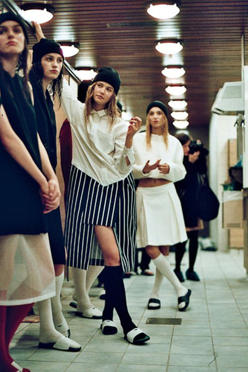 backstage at jacquemus aw13, paris by harry carr