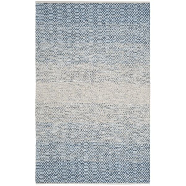 Safavieh Hand-Woven Montauk Flatweave Blue / Ivory Cotton Rug (5' x 8') - 19462392 - Overstock.com Shopping - Great Deals on Safavieh 5x8 - 6x9 Rugs