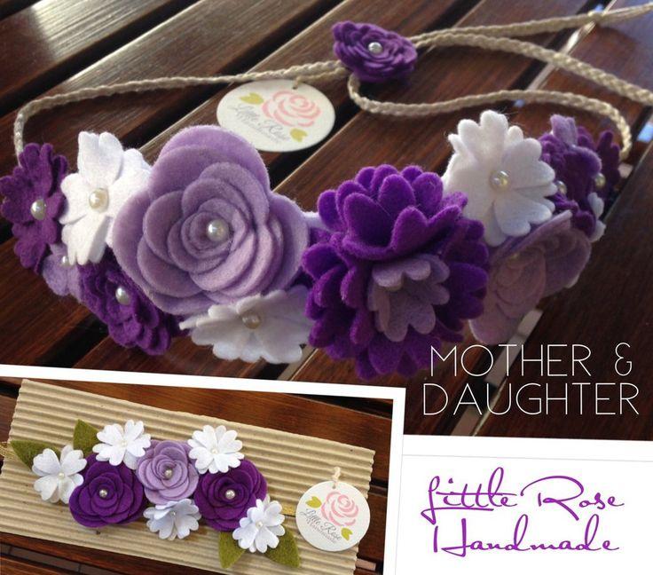 Kit di Coroncina e Fascia elastica a fiori per Mamma e Figlia by Little Rose Handmade, by Romanticards e Little Rose Handmade, 20,00 € su misshobby.com