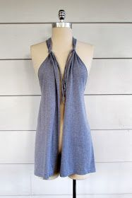 WobiSobi: Grey, No Sew Vest, DIY  Love this for over tanks, hate just wearing them by themselves.  And its light!