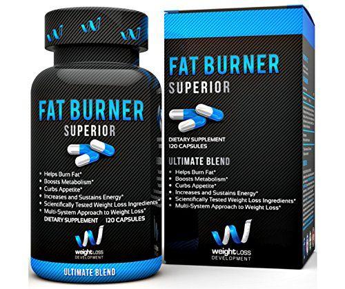 FAT BURNER SUPERIOR Weight Loss Supplements - Garcinia Cambogia, Yohimbe Blend -...