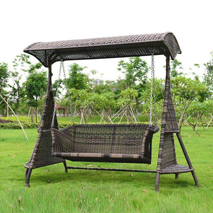 2 человека плетеная садовые качели стул открытый гамак патио отдыха крышка сиденье с подушкой