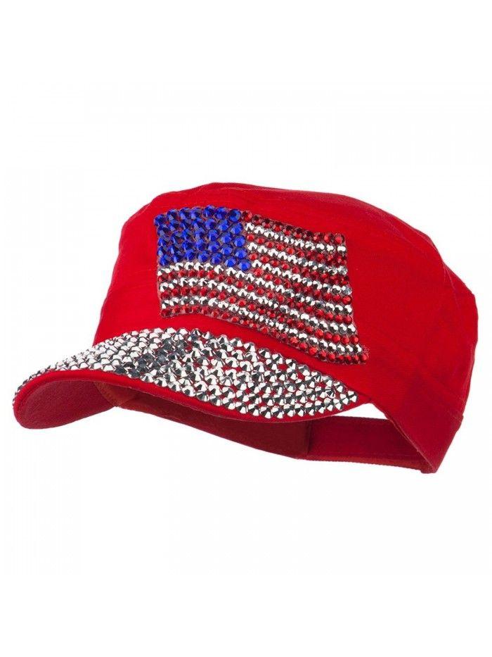 American Flag Stones Military Cap - Red - CT11P5HIFON - Hats   Caps 418df19412b