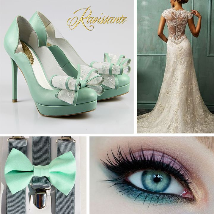 Soft minty shades for your romantic wedding