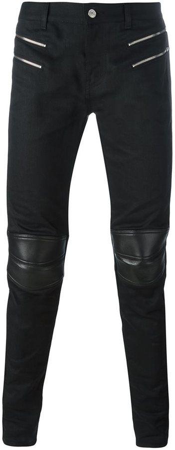 Saint Laurent skinny motorcross jeans