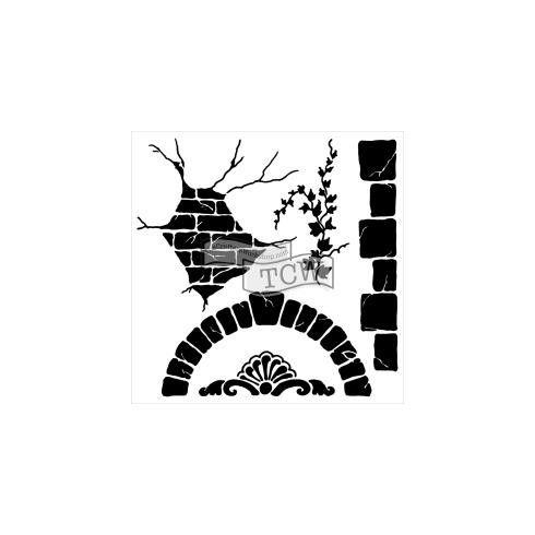 Tcw - pochoir mini tuscan wall