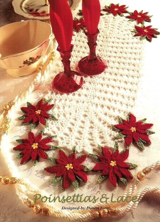 Crochet Poinsettias & Lace