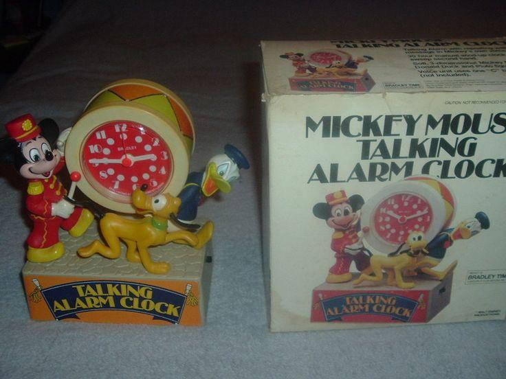 Vintage Bradley Mickey Mouse Parade Talking Alarm Clock,Tics & Talks,Donald Duck