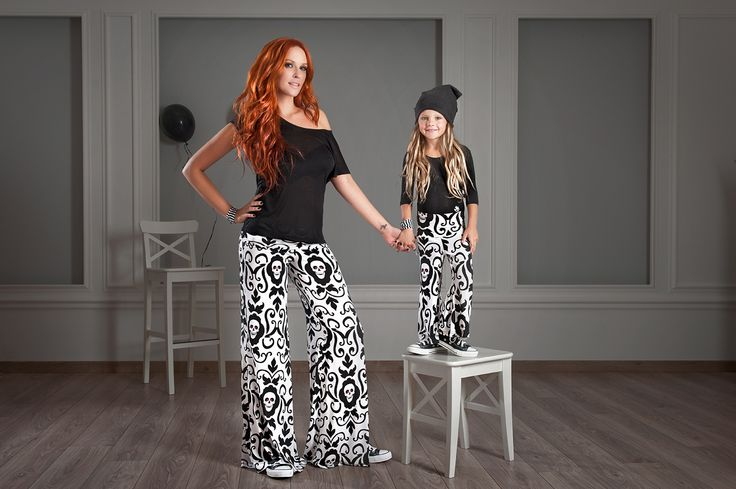 #FallWinter14_15 #MotherAndDaughter #Set #MiniMe Trousers With Allover Skulls! Dare To Wear The Same Outfit With Your Daughter And Attract Everyone's Attention! Shop Online >> http://www.sissychristidou.com/en/women/mommy/women-set.html
