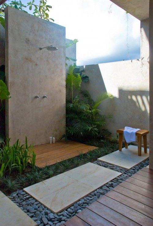 Mediterranean Home Open Air Bathroom Design | Home Interior Design