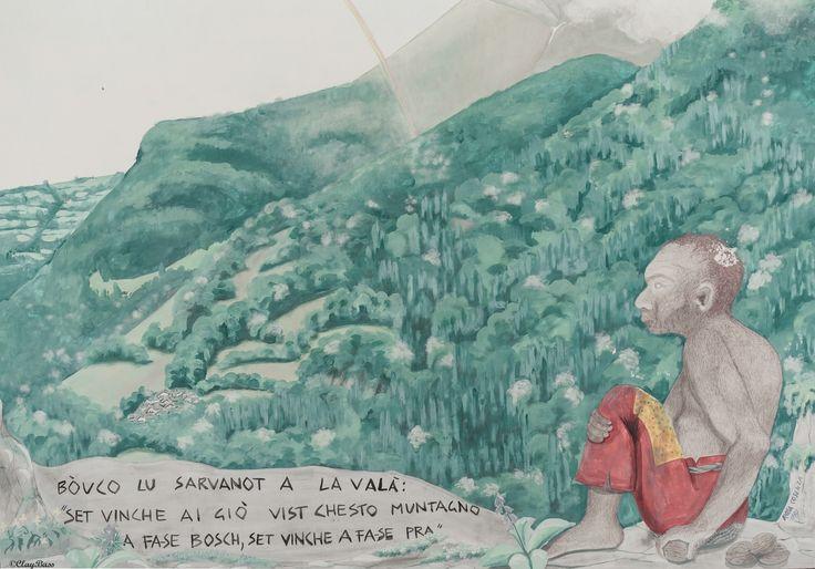 il magico mondo dei Sarvanot - foto di un murales