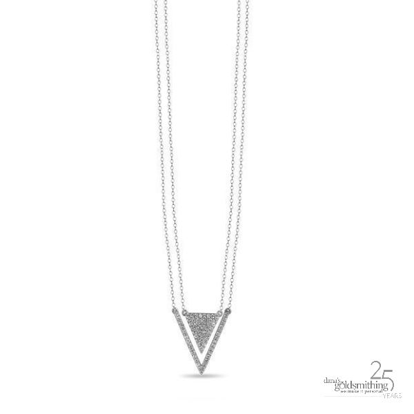 This November at Dana's Goldsmithing, enjoy our monthly featured items - on #sale all month long. Like our TRIANGLE DIAMOND NECKLACE:  Diamond Elements Necklace 10k White Gold .23ct Regular Price $798.00. Feature Sale price this month $638.00 #C1734 See all of our Featured items here: https://www.danasgoldsmithing.com . #diamond #necklace #jewellery #Canada #fashion