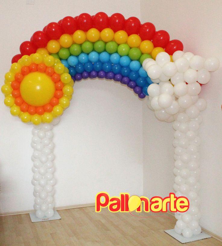 rainbow arch baloon arcobaleno palloncini arco iris globos