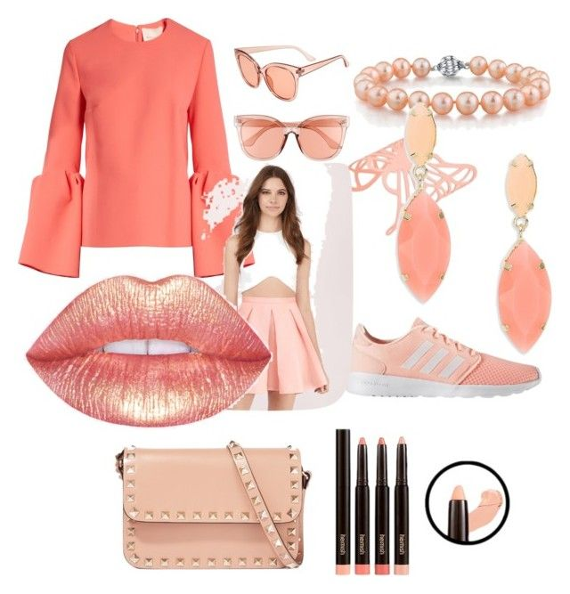 """🍑 peaches"" by princess-darjeeling ❤ liked on Polyvore featuring BP., Roksanda, adidas, Tobi, Valentino and ABS by Allen Schwartz"