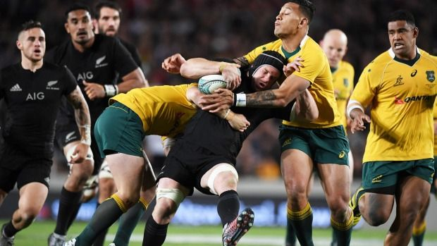 The Wallabies were all over the All Blacks in defence in patches during the Eden Park test.