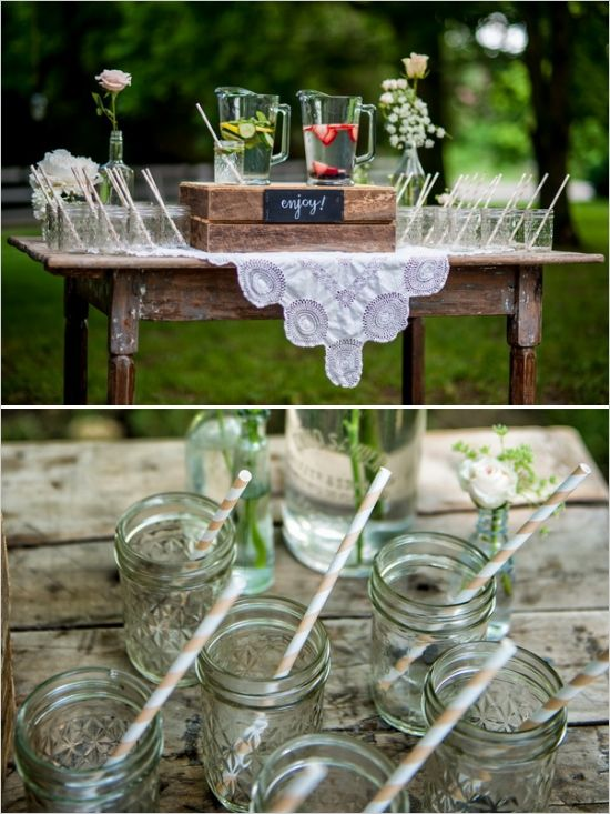 easy drink station idea #drinks #mason jars