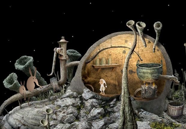 Samorost - Point and click game with beautiful graphics and animation.