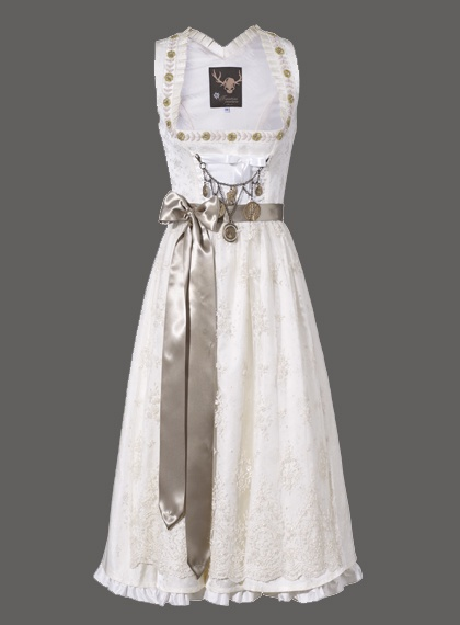 My word, what a deeply lovely wedding  dirndl. #wedding #white #dirndl #dress…