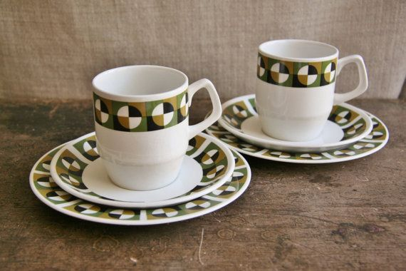 Set of 2 Wood & Sons of England Teacup Saucer and by FoundByHer, $20.00