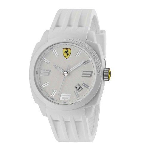 Scuderia Ferrari Aerodinamico Watch White NEW #ferrari #ferraristore #scuderiaferrari #watch #collection #new #aerodinamico #exclusive #style #prancinghorse #cavallinorampante #passion #carbon #alarm #data #timezone #waterproof #cronograph #alarm #white #silicone
