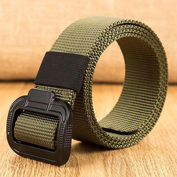 135CM Mens Alloy Buckle Nylon Belt Military Tactical Durable Buckle Pants Strip at Banggood men fashion accessories