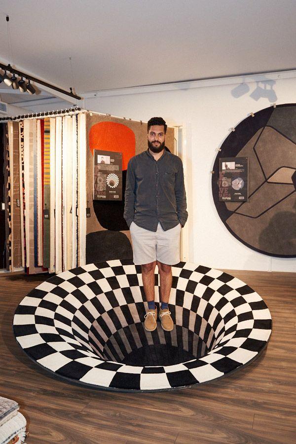 Daniel Malik Black Hole Rug Design Optical Illusions